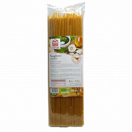 有機全麥義大利麵條Organic Whole Wheat Spaghetti(Spaghetti completes Bio)